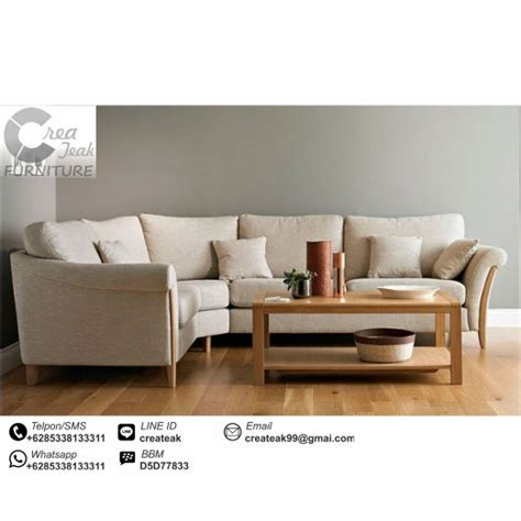 Jual Sofa L Minimalis Murah set sofa l retro minimalis notingham createak furniture