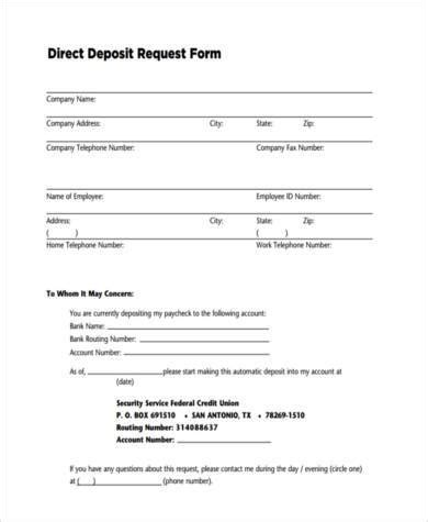 sample direct deposit authorization form format templatezet