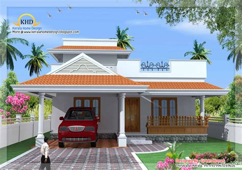 kerala style single floor house plan 1500 sq ft
