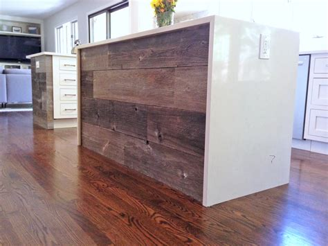 Reclaimed Wood Kitchen Island scouting shots of a white transitional kitchen sanctuary