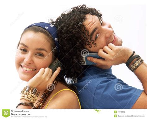 For Couples On Phone Phone Royalty Free Stock Images Image 19375649