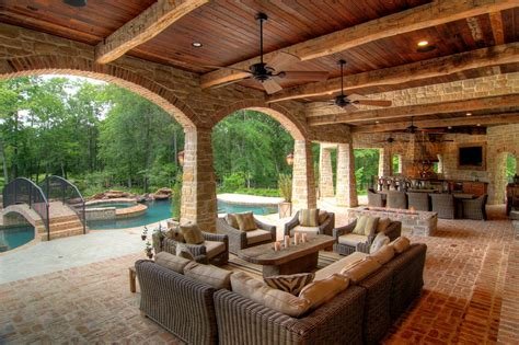 outdoor living plans covered patio with kitchen pool outdoor kitchens outdoor