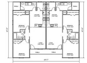 Duplex Building Plans Duplex House Plan J918d Plansource Inc