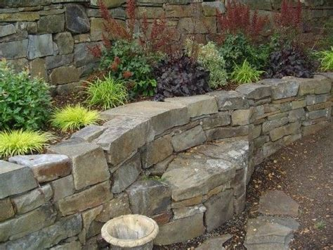 bench built into wall stone bench built into retaining wall garden stone and