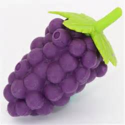 Purple grapes eraser from japan by iwako fruits vegetables