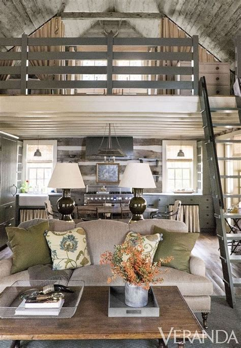 cozy cabin rustic cabin interiors pinterest vaulted home tour a rustic and refined tennessee log cabin log