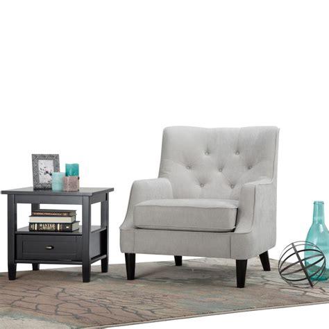 Home Grange by Simpli Home Grange Light Dove Grey Fabric Club Arm Chair