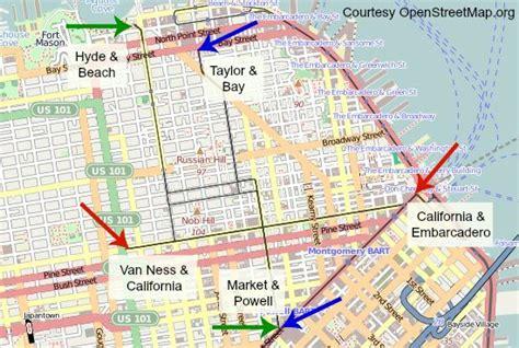 san francisco trolley map trolley car san francisco map images