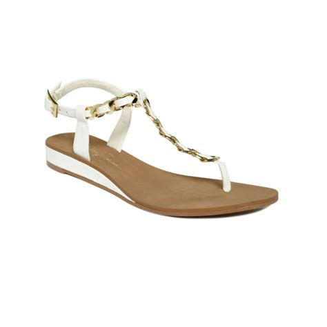 ivory flat sandals joey flat sandals in white ivory gold lyst