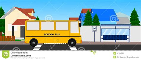 bus stop stock photography image