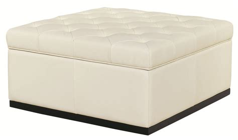 cream tufted ottoman noah tufted cream storage ottoman from sunpan 34943