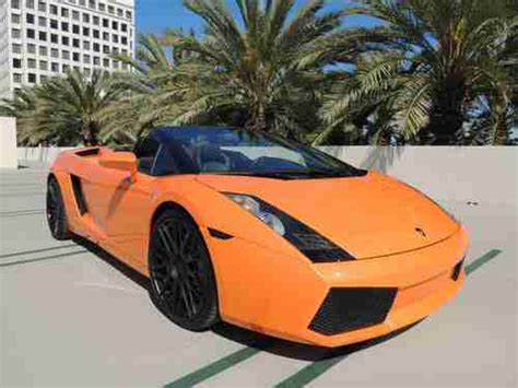 Orange Lamborghini Convertible Sell Used 2007 Lamborghini Gallardo Spyder Convertible 2