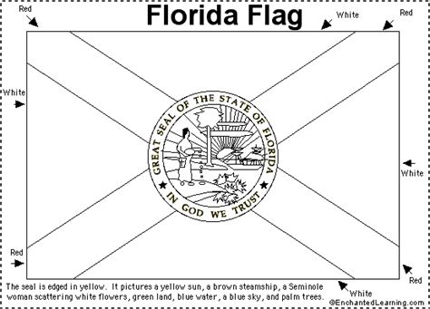 florida flag printout enchantedlearning com