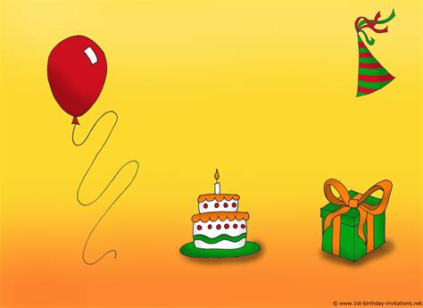 Birthday Invitation Card Clipart