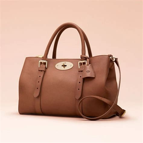 Tribute To A Timeless Classic Mulberrys Leather Bayswater Bag by Mulberry Vegetable Leather In Oak Is One Of