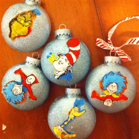 dr seuss christmas ornaments holiday fun pinterest