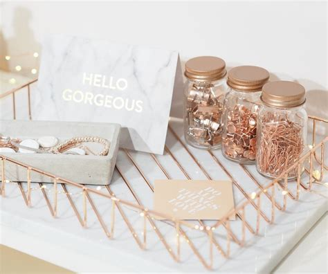 Copper Desk Accessories If You The Look Of Gold How About A Copper Gold Desk Set Up Etsiedeskie