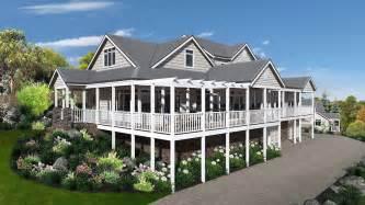 Split Level Style House Storybook Hamptons Style Design