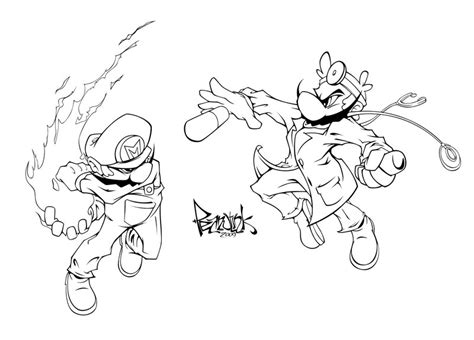 dr mario coloring pages how to draw mario vs link