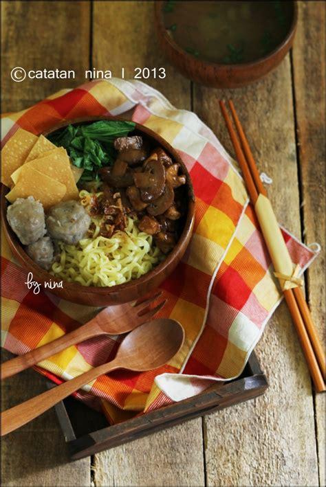 mie ayam jamur catatan nina aneka resep masakan rumah
