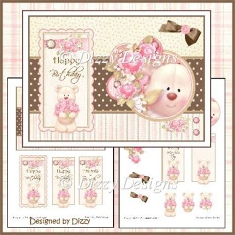 Free Decoupage Downloads For Card - flower card front and decoupage 163 0 96 instant