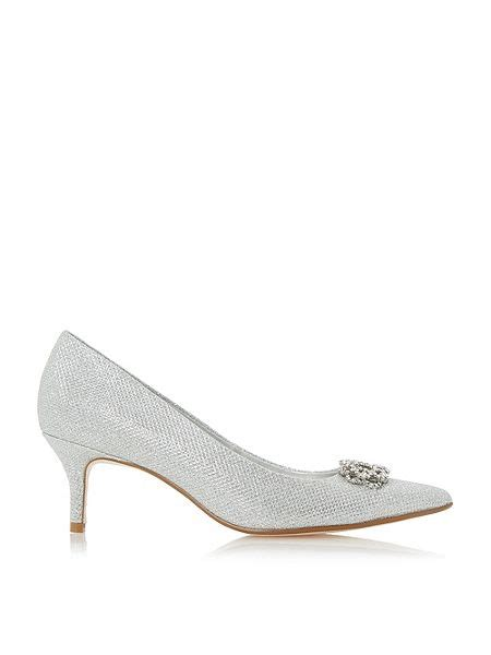 house of fraser linea shoes linea bluma embellished court shoes silver house of fraser