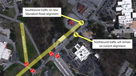 traffic pattern to change on stanaford road for east