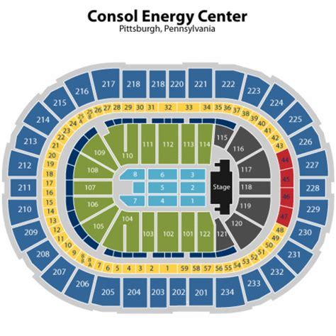consol energy seating chart consol energy center concert seating chart consol energy