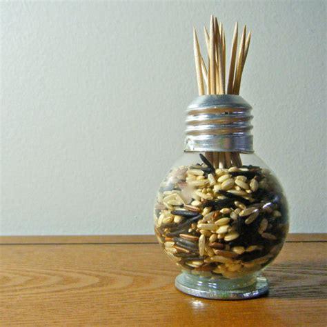 items similar to repurposed lightbulb vase toothpick