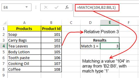 excel match function – how to use