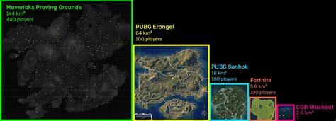 battle royale map comparisons  estimates