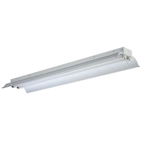 Lithonia Light Fixtures Lithonia Lighting 2 Light Gloss White Fluorescent Industrial Bay Lighting L 2 32 Mvolt Geb10is