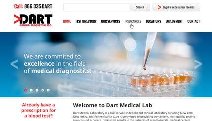 design lab website medical lab website design
