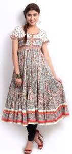 Beautiful off white red and black printed anarkali kurta best for the