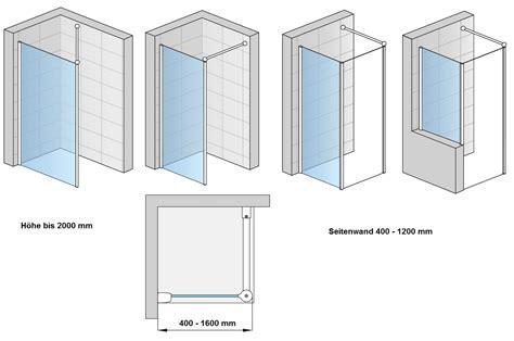 duschabtrennung feststehend freistehende duschabtrennung 140 x 200 cm dusche