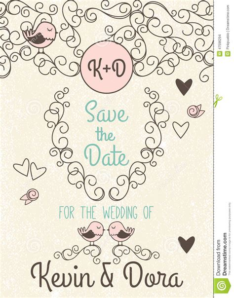 doodle wedding stationery doodle style wedding invitation with birds and