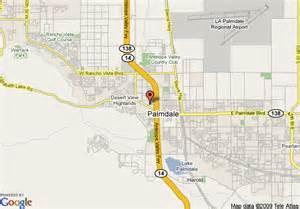 map of palmdale california palmdale ca map