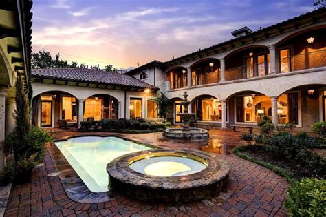 hacienda with courtyard pool and