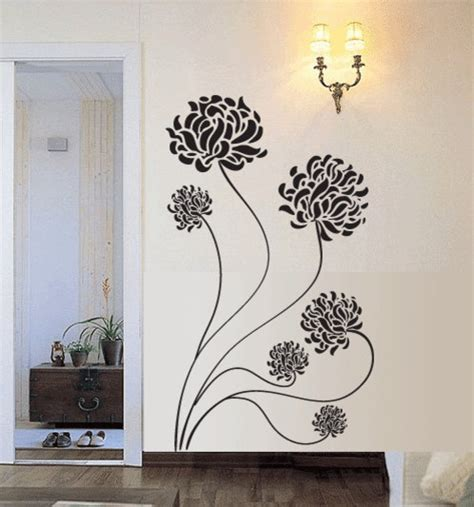 wall sticker vinyl chrysanthemum flower vinyl wall decal by 7 decals