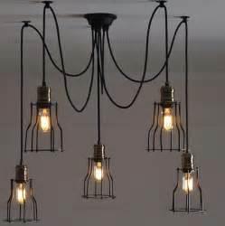 diy light bulb chandelier nordic retro edison bulb pendant chandelier vintage loft
