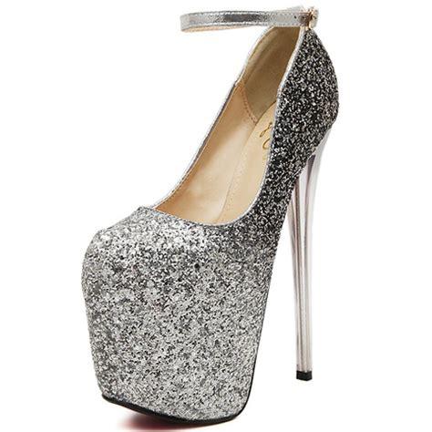 cheap silver high heel shoes cheap fashion closed toe stiletto high heel