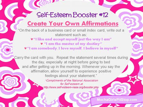 make your own affirmation cards self esteem booster of the week create your own