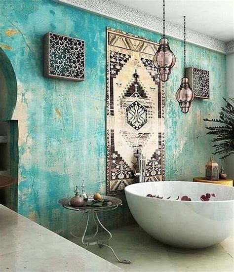 boho bathroom ideas picture of turquoise boho luxe moroccan bathroom