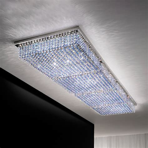large modern ceiling lights large rectangular modern crystal ceiling chandelier