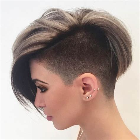 haurcut for wide head female with picture 23 most badass shaved hairstyles for women badass