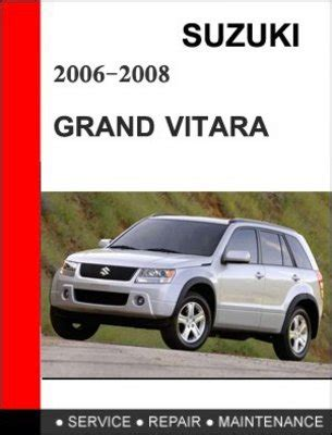car repair manual download 2009 suzuki grand vitara lane departure warning suzuki grand vitara 2006 2007 2008 service repair manual download
