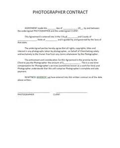 photographer contract free printable documents