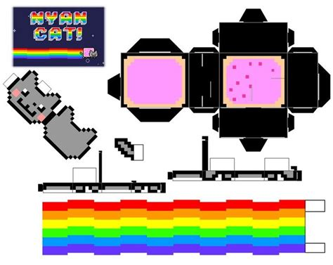Cat Papercraft - nyan cat cubee by mikeyplater deviantart on