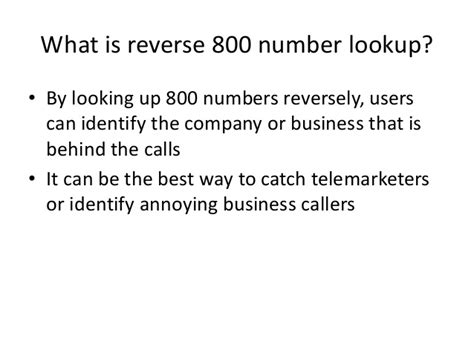 800 Number Lookup 800 Phone Lookup