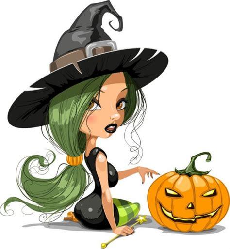 imagenes de halloween hermosas la bruja bonita con ilustraci 243 n vectorial de halloween